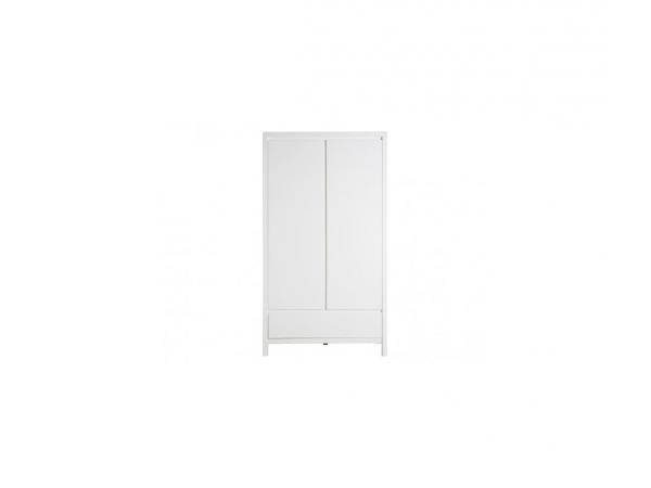 Armoire 2 portes xl avec tiroir corsica blanc