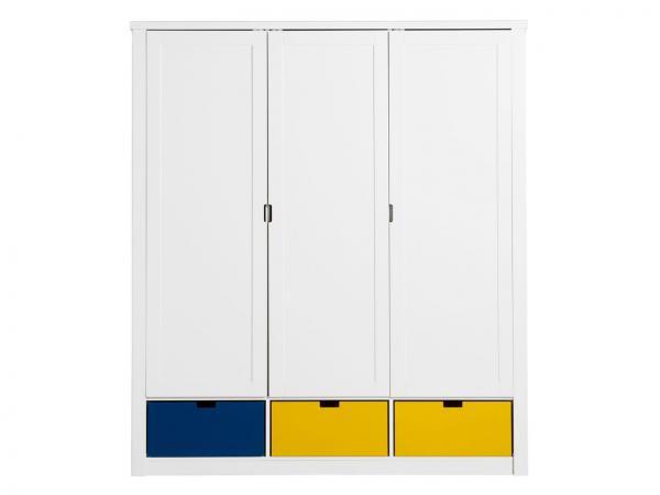 Armoire 3 portes mix & match luxe blanc (excl. 3 tiroirs 3546xx)