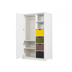 Bopita - 23004611 - ARMOIRE 1 porteMIX & MATCH LUXE blanc (excl. 6 tiroirs 5946xx) (379246)