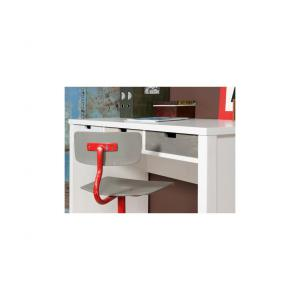 Bopita - 13210734 - Bureau BASIC WOOD banc cérusé-white wash (excl. 3 tiroirs) (379318)
