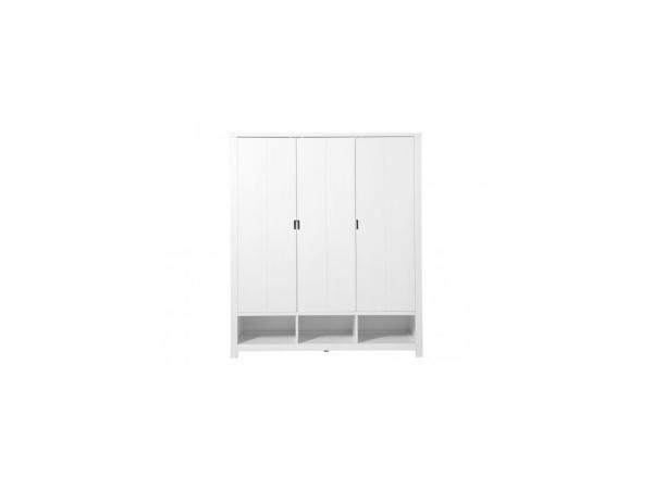 Armoire 3 portes basic wood banc cérusé-white wash (excl. 3 tiroirs 135107xx)
