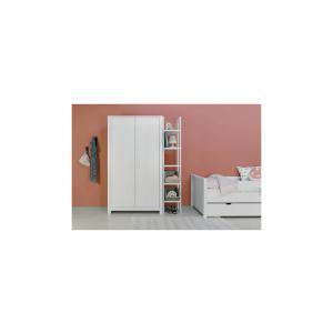 Bopita - 11610734 - Armoire 2 portes BASIC WOOD banc cérusé-white wash (379398)