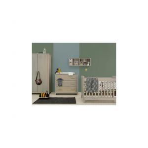 Bopita - 11610747 - Armoire 2 portes BASIC WOOD gris cérusé-gravel wash (379400)