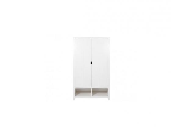 Armoire 2 portes xl basic wood banc cérusé-white wash (excl. 2 tiroirs 135107xx)