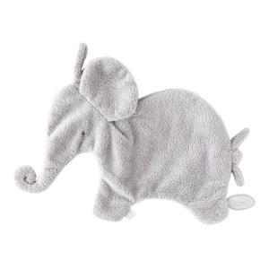 Dimpel - 885105 - Eléphant doudou attache tetine 27 cm - gris-clair (379626)