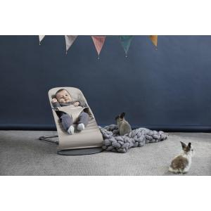 Babybjorn - 606017 - Pack transat Bliss Gris sable + Jouet en bois (379712)