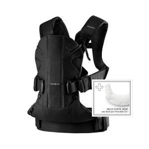 Babybjorn - 698001 - Pack Porte-bébé One Noir + Bavoir pour porte-bébé One (379716)