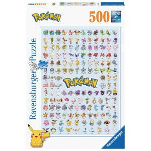 Ravensburger - 14781 - Puzzle 500 pièces - Pokédex première génération / Pokémon (379924)