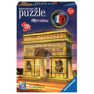 Ravensburger - 12522 - Puzzle 3D Building - Collection midi illuminée - Arc de Triomphe - Night Edition (380054)