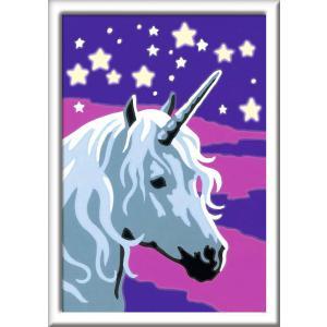 Ravensburger - 29613 - Numéro d'art Mini format lignes colorées - Jeu créatif - Licorne scintillante (380084)