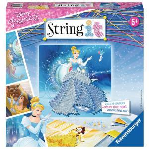 Ravensburger - 18030 - Jeu créatif - String It midi licence Princess, Disney (380132)