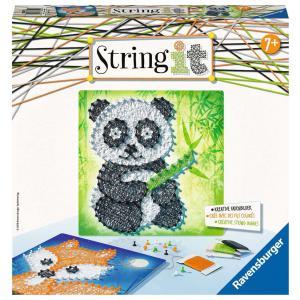 Ravensburger - 18029 - Jeux créatifs - String It midi: Panda et Fox (380138)
