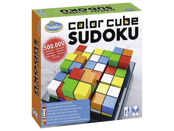 Jeu de société famille - thinkfun - color cubes sudoku