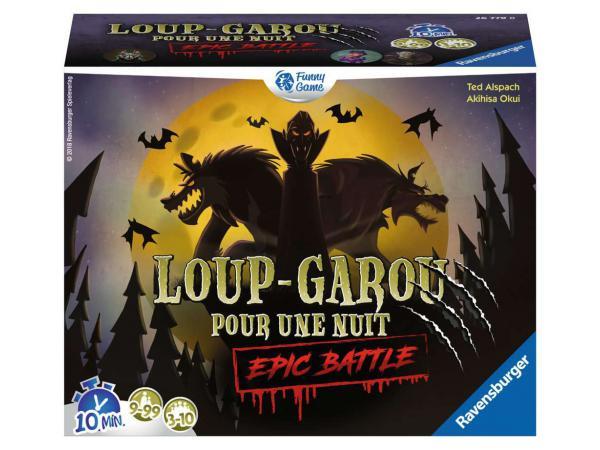 Jeux de société famille - jeux d'ambiance -loup-garou pour une nuit - epic battle