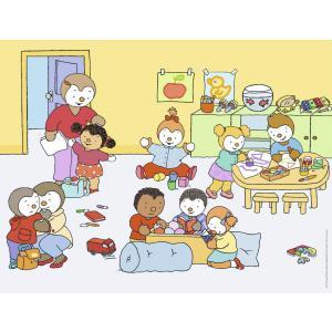 Nathan puzzles - 86209 - Boîtes formes 24 pièces de sol - T'choupi à l'école (380202)