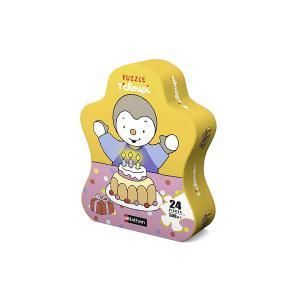 Nathan puzzles - 86210 - Boîtes formes 24 pièces de sol - T'choupi fête son anniversaire (380204)