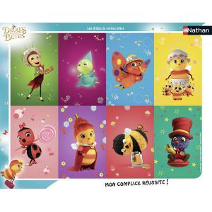 Nathan puzzles - 86124 - Puzzle cadres 35 pièces - Nathan - Les Drôles de Petites Bêtes (380216)