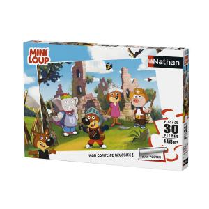 Nathan puzzles - 86367 - Puzzle 30 pièces - Nathan - Mini-Loup joue au chevalier (380224)