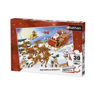 Nathan puzzles - 86364 - Puzzle 30 pièces - Nathan - La tournée du Père Noël (380230)