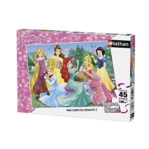 Nathan puzzles - 86537 - Puzzle 45 pièces - Nathan - Rencontre avec les princesses Disney (380236)