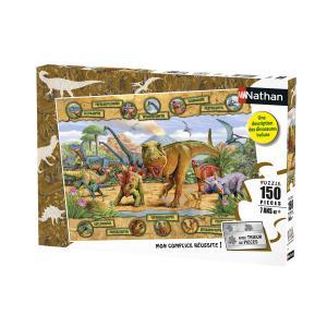 Nathan puzzles - 86836 - Puzzle 150 pièces - Nathan - Les espèces de dinosaures (380274)