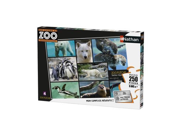 Puzzle 250 pièces - nathan - secteur aquatique / une saison au zoo