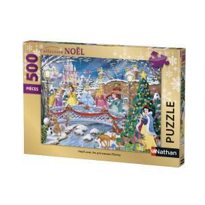 Nathan puzzles - 87151 - Puzzle 500 pièces - Nathan - Noël avec les princesses Disney (380308)