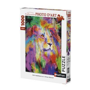 Nathan puzzles - 87607 - Puzzle 1000 pièces - Nathan - Lion majestueux (380326)