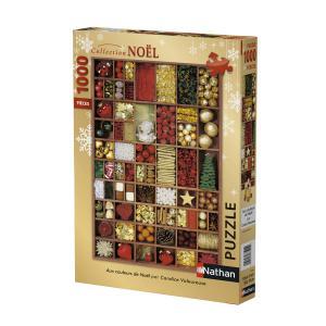 Nathan puzzles - 87566 - Puzzle 1000 pièces - Nathan - Aux couleurs de Noël (380334)