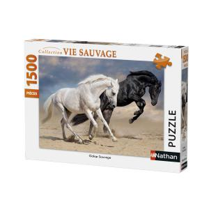Nathan puzzles - 87791 - Puzzle 1500 pièces - Nathan - Galop sauvage (380348)