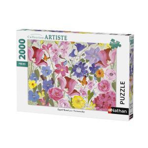 Nathan puzzles - 87883 - Puzzle 2000 pièces - Nathan - Esprit floral (380366)