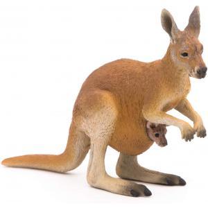 Papo - 50188 - Kangourou et son bébé - Dim. 10 cm x 3,5 cm x 7,5 cm (380422)