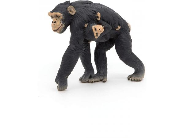Figurine chimpanzé et son bébé