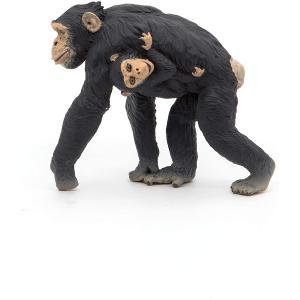 Papo - 50194 - Chimpanzé et son bébé - Dim. 7 cm x 3 cm x 6 cm (380434)