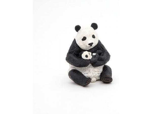 Figurine panda assis et son bébé