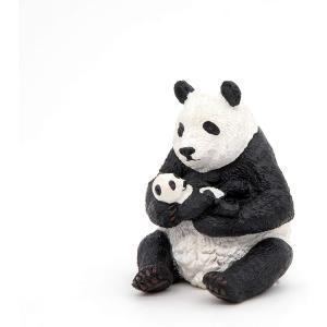 Papo - 50196 - Panda assis et son bébé - Dim. 6 cm x 7 cm x 8 cm (380438)