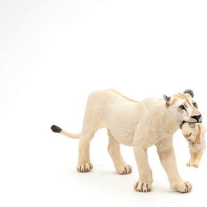 Papo - 50203 - Figurine Lionne blanche avec lionceau (380452)