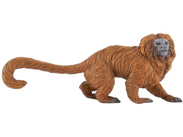 Figurine tamarin lion doré