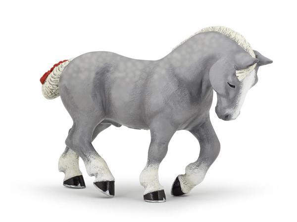Figurine percheron gris