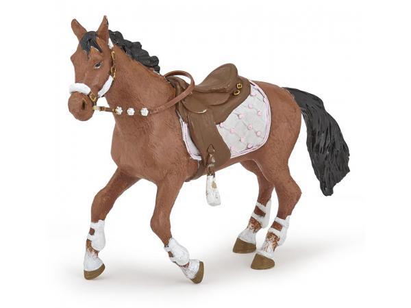 Figurine cheval de la cavalière fashion hiver