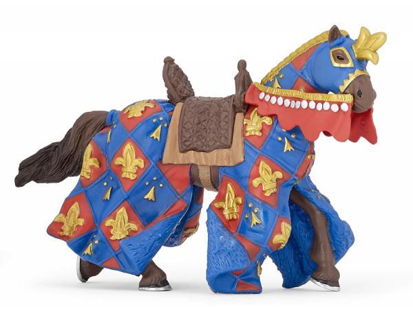 Figurine cheval bleu fleur de lys