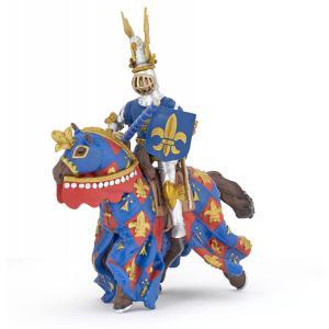 Papo - 39787 - Figurine Cheval bleu fleur de lys (380682)