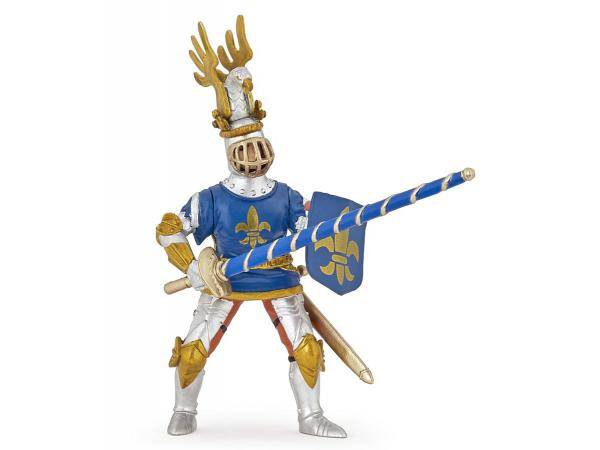 Figurine chevalier bleu fleur de lys
