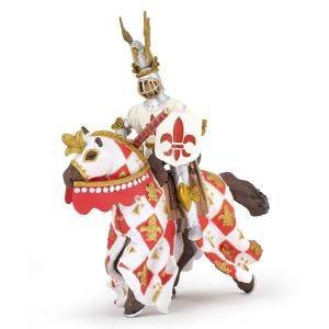 Papo - 39789 - Figurine Cheval blanc fleur de lys (380686)