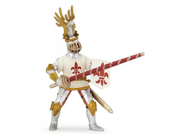Figurine chevalier blanc fleur de lys