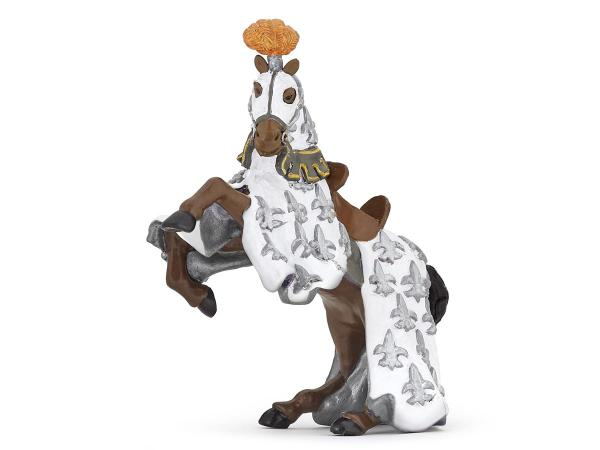 Figurine cheval du prince philippe blanc