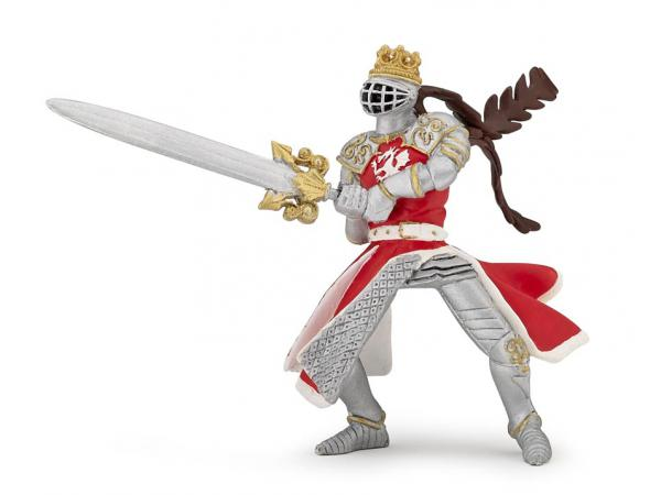 Figurine roi au dragon à l'épée