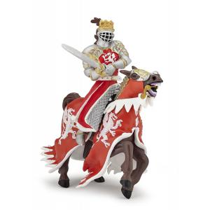 Papo - 39797 - Roi au dragon à l'épée - Dim. 7 cm x 12 cm x 9 cm (380700)