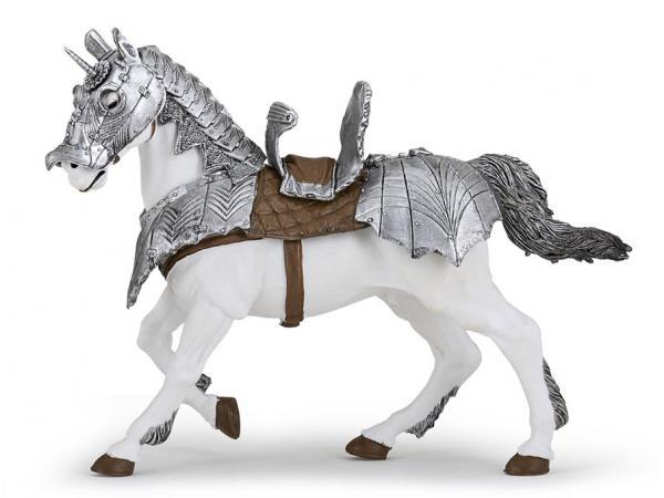 Figurine cheval en armure
