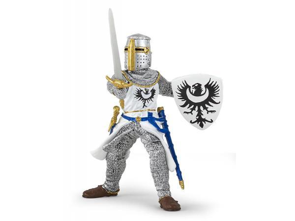 Figurine chevalier blanc à l'épée